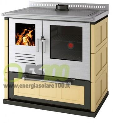 Cucina a Legna Gemma Maiolica Sc Fumi Superiore Centrale 8,3 KW