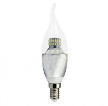 Candela LED SMD 6W 230V E14 luce calda 3000K in Vetro