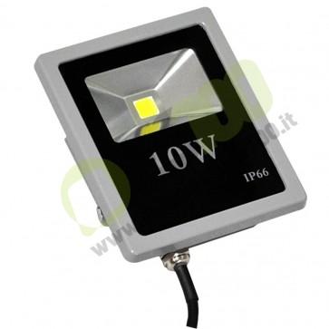 Faro Slim a Led Bridgelux 10W 230V a luce fredda 5000K IP66