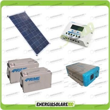 Kit Solare Fotovoltaico 100W 24V Baita Rifugio di Montagna Casa di Campagna