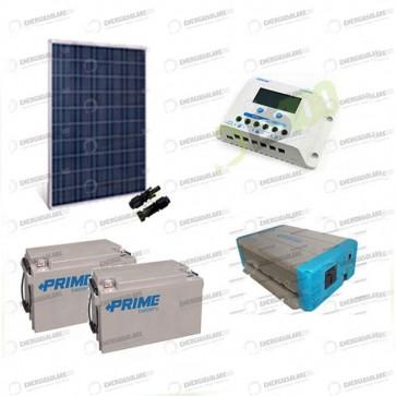Kit Solare Fotovoltaico 250W 24V Baita Rifugio di Montagna Casa di Campagna