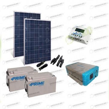 Kit Solare Fotovoltaico 500W 24V Baita Rifugio di Montagna Casa di Campagna