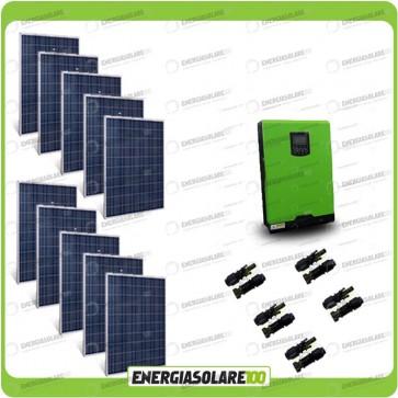 Kit Casa Solare Base 2500W Serie HF 48V Inverter Edison50 5000VA 4000W con regolatore PWM 50A