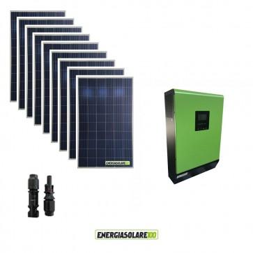 Impianto fotovoltaico Solare 2.4kW Inverter ibrido ad onda pura Genius50 5KW 48V con regolatore di carica MPPT 80A 450Voc