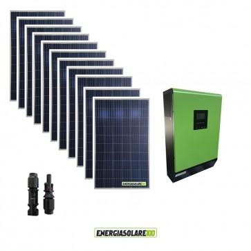 Impianto fotovoltaico Solare 3KW Inverter ibrido ad onda pura MPGEN50V2 5KW 48V con regolatore di carica MPPT 80A