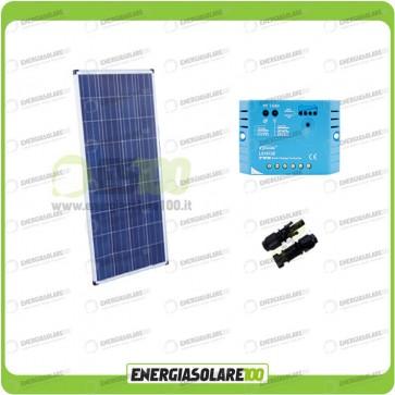 Kit Solare Fotovoltaico 150W 12V EJ Mantenimento batteria auto, camper, nautica
