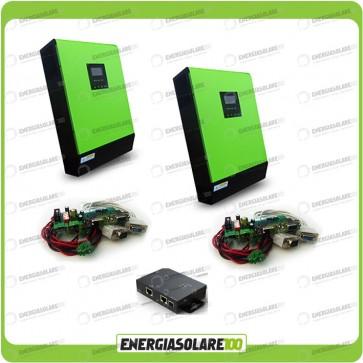 Kit 2 Inverter GENIUS monofase da 10000VA 8000W 48V + Regolatore di Carica MPPT 8000W
