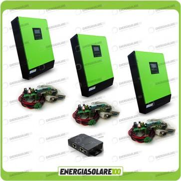 Kit Inverter Trifase GENIUS 15000VA 12000W 48V + Regolatore di Carica 12000W MPPT