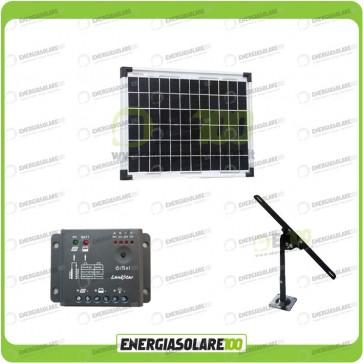 Kit Pannello Solare 10W 12V EJ regolatore di carica 5A Supporto di fissaggio Regolabile