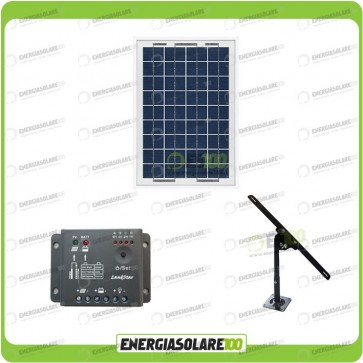 Kit Pannello Solare 10W 12V regolatore di carica 5A Supporto di fissaggio Regolabile