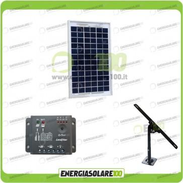 Kit Pannello Solare 5W 12V EJ regolatore di carica 5A Supporto di fissaggio Regolabile