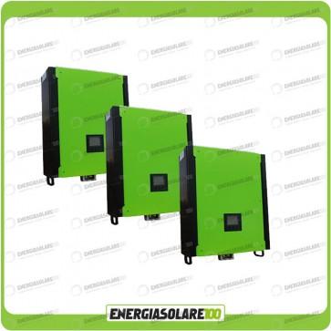 Kit 3 Inverter INFINITY monofase 15000VA 15000W 48V + Regolatore di Carica MPPT 30Kw 900Voc