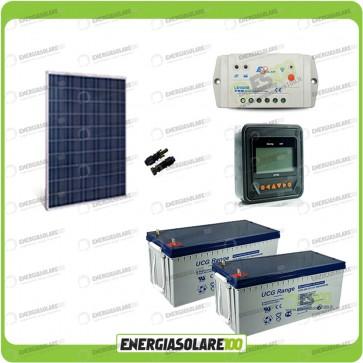 Kit Starter Plus Pannello Solare HF 280W 24V Batteria Gel 200Ah  Regolatore PWM 10A LS1024B e Display MT-50