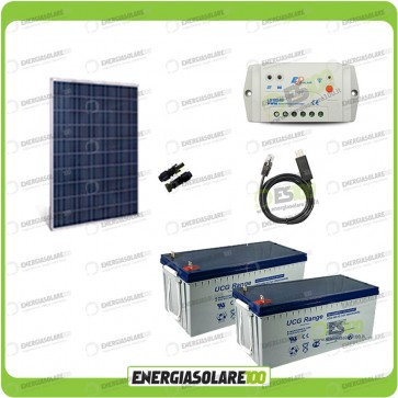 Kit Starter Plus Pannello Solare HF 270W 24V Batteria Gel 200Ah  Regolatore PWM 10A LS1024B e Cavo USB RS485