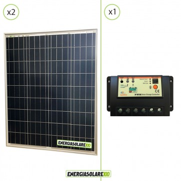 Kit Starter Solare Fotovoltaico  NX 160W 12V  Regolatore PWM 20A 12V Epsolar EP20