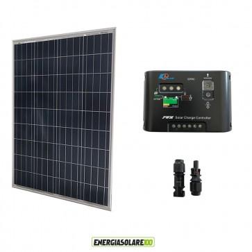 Kit Solare Fotovoltaico 100W 12V Regolatore PWM 10A Epsolar Camper Casa Nautica Illuminazione