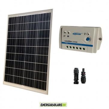 Kit Starter Pannello Solare Fotovoltaico 100W 12V Regolatore PWM 10A 12V  LS1024B