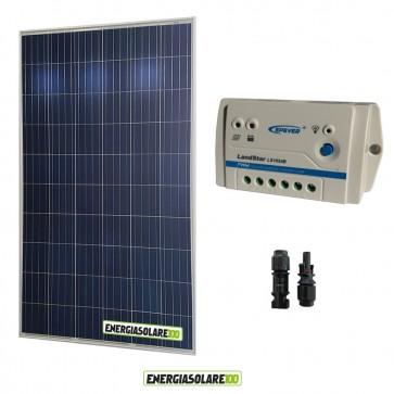 Kit Solare Fotovoltaico 280W 24V Regolatore PWM 10A LS1024B Chalet Casa Baita