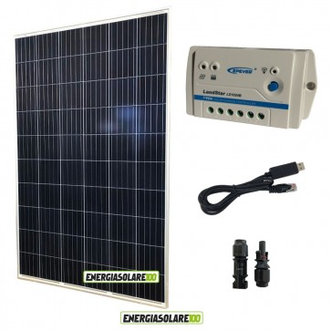 Kit Pannello Solare fotovoltaico 280W 24V  Regolatore PWM 10A LS1024B con cavo USB-RS485