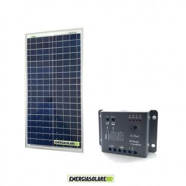 Kit Solare Fotovoltaico 30W 12V Regolatore PWM 5A Epsolar Camper Casa Nautica Illuminazione