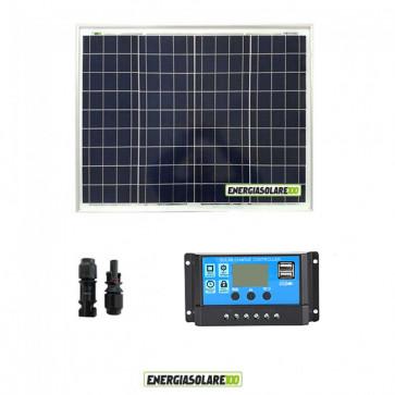 Kit Solare Fotovoltaico 100W 12V Regolatore PWM 10A Nvsolar Camper Casa Nautica Illuminazione