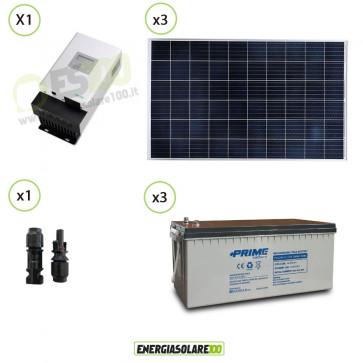 Kit Solare fotovoltaico 600W alimentazione Video Sorveglianza 12V per DVR e 10 Telecamera 24h al giorno