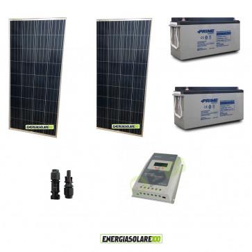 Kit Solare fotovoltaico 300W per VideoSorveglianza 12V DVR e 4 Telecamera 24h al giorno