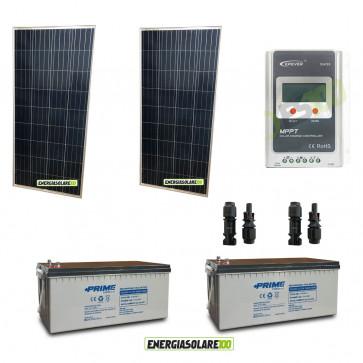 Kit Solare fotovoltaico 400W per VideoSorveglianza 12V per DVR e 5 Telecamera 24h al giorno