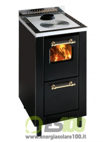 Cucina a Legna da Inserimento Mini Metallo Sc Fumi Super. 5,5 KW