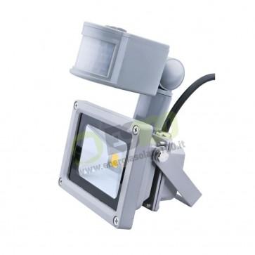 Faro LED 10W 230V con Sensore di Movimento a Luce Fredda IP65