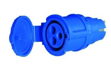 Adattatore spina schuko / presa blu CEE - R429