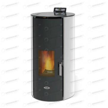Termostufa Kalor a pellet REDONDA GLASS IDRO 24 riscaldamento acqua