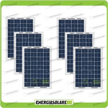 Stock 6 Pannelli Solari 10W 12V