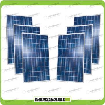 Stock 6 Pannelli Solari 250W 24V