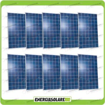Stock 10 Pannelli Solari 250W 24V europeo