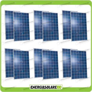 Stock 12 Pannelli Solari 250W 24V europeo