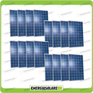 Stock 16 Pannelli Solari 250W 24V europeo