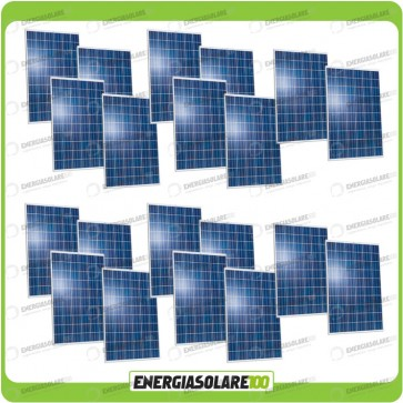 Stock 20 Pannelli Solari 250W 24V europeo