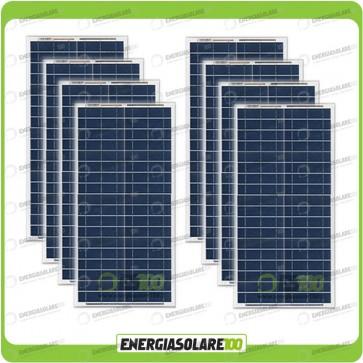 Stock 8 Pannelli Solari 30W 12V