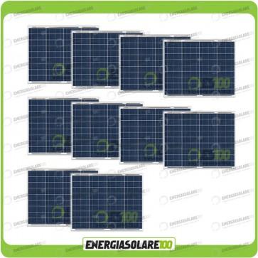 Stock 10 Pannelli Solari 50W 12V