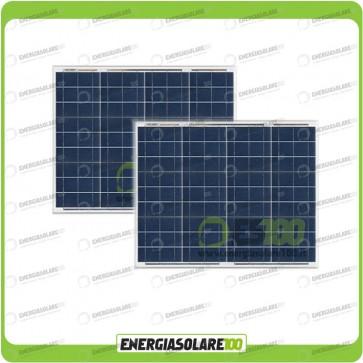 Stock 2 Pannelli Solari 50W 12V