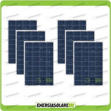 Stock 6 Pannelli Solari 80W 12V