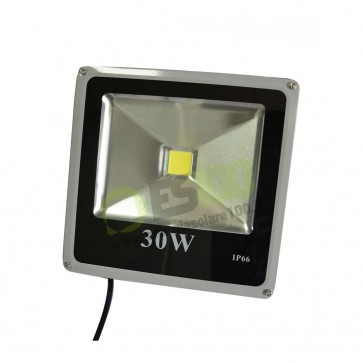Faro LED Slim 30W 230V a Luce Fredda in Alluminio IP66