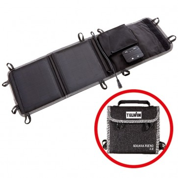 Pannello Solare Portatile Solara Flexo 5.0 5V 12V + Regolatore di Carica Trekking Zaino