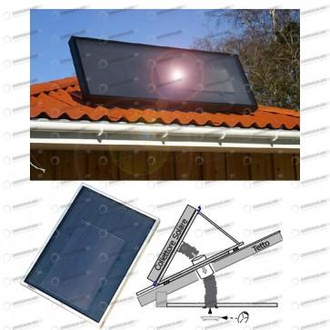 Kit Solare Stufa 50mq max staffa inclinata