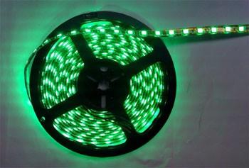 Bobina a led luce verde 5mt. 14.4W/m 12V LED Strip SMD5050 IP65