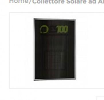 Collettore Solare ad Aria SVI7 con Interruttore On/Off Area 50mq