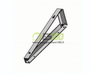 Supporto Triangolare Fisso a 10 Gradi Pannello Solare Fotovoltaico con Fissaggio senza Zavorra (Default)