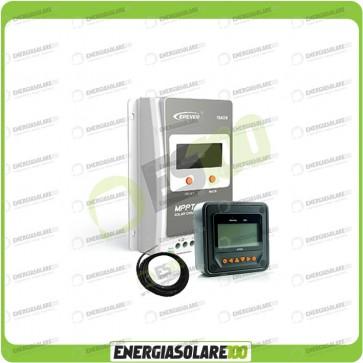 Kit Regolatore di Carica Epsolar Tracer Serie A 20A 12-24V 100Voc con Display MT-50 e Sensore temperatura