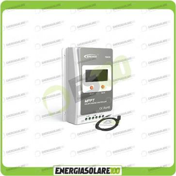 Kit Regolatore di Carica Epsolar Tracer Serie A 20A 12-24V 100Voc con Cavo USB-RS485